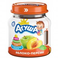 Пюре «Агуша» яблоко-персик, 115 г.