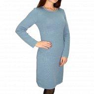 Платье женское, серо-голубое.