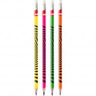 Карандаш простой «Grafitos neon» HB, с ластиком, ассорти