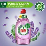 Средство «Fairy» для мытья посуды, лаванда и розмарин, 450 мл.