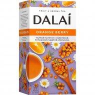 Чайный напиток «Dalai» c облепихой, ромашкой и цедрой апельсина.