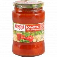 Томаты неочищенные в томатном соке «ЕКО» 680 г.
