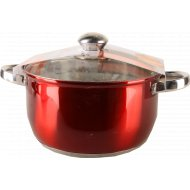 Кастрюля «Maestro Red» металлическая, с крышкой 4.3 л.