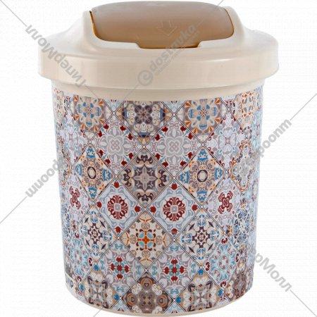 Контейнер для мусора «Декор» Марокко круглый, 12 л.