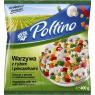 Овощи «Poltino» овощи с рисом и шампиньонами, 400 г.