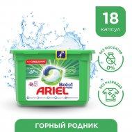 Капсулы для стирки «Ariel» Все в 1 PODs, Горный родник, 18 шт.