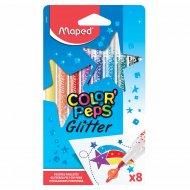 Фломастеры с глиттер-эффектом «Color peps» 8 шт