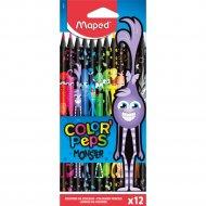 Цветные карандаши «Color Peps Monster» 12 штук