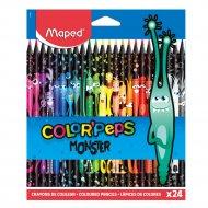 Цветные карандаши «Color' Peps Monster» 24 штуки