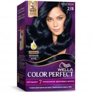 Крем-краска для волос «Wella Color Perfect» Иссиня-черный, 2/8.