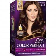 Стойкая крем-краска для волос «Wella Color Perfect» темный шатен, 4/0.