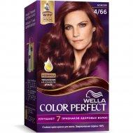 Стойкая крем-краска для волос «Wella Color Perfect» божоле, 4/66.
