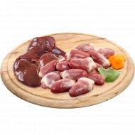 Печень/сердце цыпленка-бройлера замороженное, 1 кг.