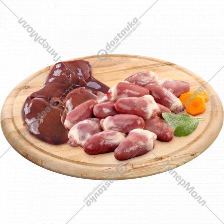 Печень/сердце цыпленка-бройлера замороженное, 1 кг., фасовка 0.95-1.05 кг