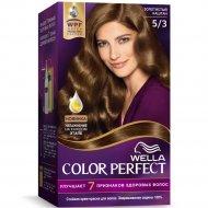 Стойкая крем-краска для волос «Wella Color Perfect» золотистый каштан, 5/3.