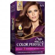 Стойкая крем-краска для волос «Wella Color Perfect» темный махагон, 5/5.