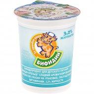 Бифидопродукт «Бифидин-Крепыш» малина 3.2%, 200 г.
