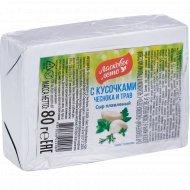 Сыр плавленый «Ласковое лето» с чесноком и травами, 45%, 80 г