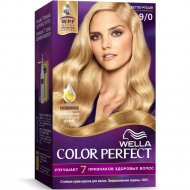 Стойкая крем-краска для волос «Wella Color Perfect» светло-русый, 9/0.