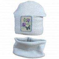 Комплект детский шапка/снуд, размер 50-52.