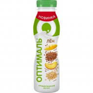 Йогурт питьевой «Оптималь» персик-манго-злаки-лен, 1.9%, 260 г