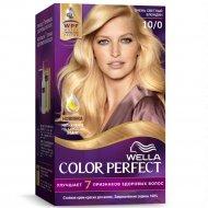Стойкая крем-краска для волос «Wella Color Perfect» очень светлый блондин, 10/0.