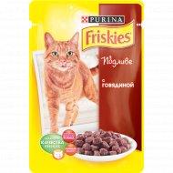 Корм для кошек «Friskies» в подливе с говядиной 100 г.