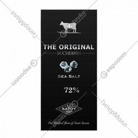 Шоколад горький «Swiss original» с морской солью, 72%, 100 г.