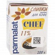 Сливки «Parmalat» ультрапастеризованные, 11%, 200 г