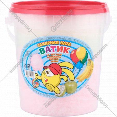 Сахарная вата «Ватик» со вкусом карамели, яблока, банана, 50 г