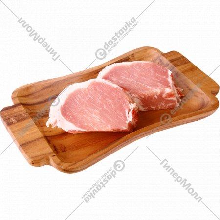 Полуфабрикат свиной для натуральных отбивных котлет, 1 кг., фасовка 0.8-1.4 кг