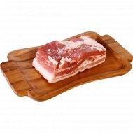 Грудинка свиная охлажденная, 1 кг., фасовка 0.7-1.3 кг