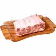 Реберные пластины свинины, 1 кг., фасовка 0.7-1.2 кг