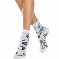 Носки женские хлопковые «Ce Happy» бледно-бирюзовые, размер 23-25.