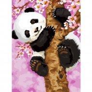 Живопись по номерам «Панда на дереве» 30 х 40 см.