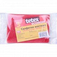 Салфетки жёсткие «Tetex Econom» 9х13 см, 3 шт.