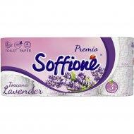 Бумага туалетная «Soffione Premio Lavender» 3 слоя, 8 рулонов