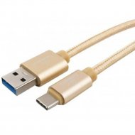 Кабель «Cablexpert» CC-P-USBC03Gd-1M, золотой