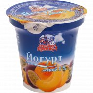 Йогурт легкий «Бабушкина крынка» персик-маракуйя, 2%, 120 г.