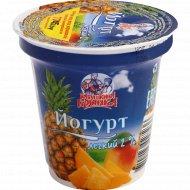 Йогурт легкий «Бабушкина крынка» ананас-манго, 2%, 120 г.