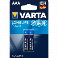 Элемент питания алкалиновый «Varta» ААА 1.5V, 2 шт.