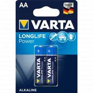 Элемент питания «VARTA» LongLife Power LR6, AA, алкалиновый, 2 шт.