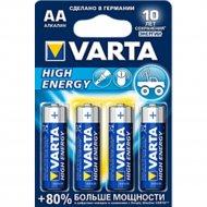 Элемент питания «VARTA» LongLife Power LR6, AA, алкалиновый, 4 шт.