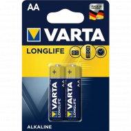 Элемент питания «VARTA» Longlife LR6, AA, алкалиновый, 2 шт.