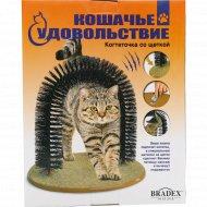 Когтеточка «Кошачье удовольствие» со щеткой.