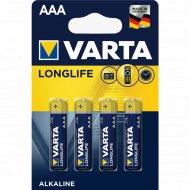 Элемент питания «VARTA» Longlife LR6, AA, алкалиновый, 4 шт.