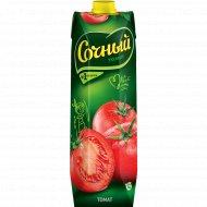 Сок «Сочный» томат, с мякотью, с солью, 1 л