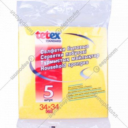 Салфетки бытовые «Tetex Standard» 34х34 см, 5 шт.