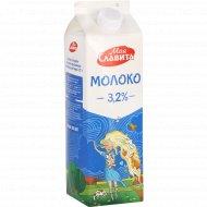Молоко «Моя Славита» 3.2%, ультрапастеризованное, 900 мл.