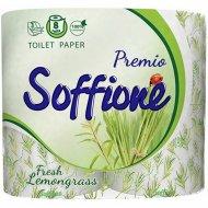 Бумага туалетная «Soffione Premio Fresh lemongrass» 3 слоя, 8 рулонов
